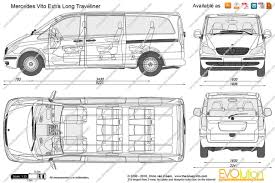 mercedes length the blueprints com vector drawing mercedes vito