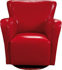 Leather Swivel Club Chairs Bonded Leather Swivel Chair Red The Brick