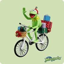 2004 kermit the frog bicycle hallmark ornament the ornament shop