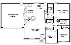3 bedroom 3 bath house plans 2 bedroom one story house plans home deco plans