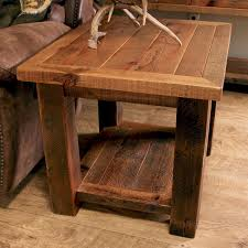 Rustic End Tables Sawmill Timber Frame End Table