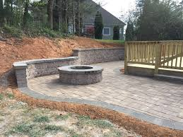 Patio Retaining Wall Pictures Hardscape Landscape Walkway Images Wake Forest Raleigh Nc