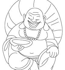Buddhist Coloring Pages Laughing Buddha Also Celebrating Chinese Buddhist Coloring Pages