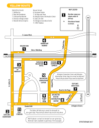 Dallas Convention Center Map by Yellow Line Arlington Trolley
