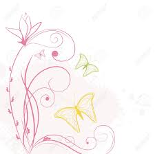 floral background with butterflies royalty free cliparts vectors