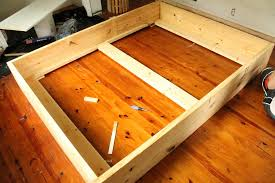 How To Make A Box Bed Frame How To Build A Simple And Inexpensive Diy Bed Frame Bed Frames