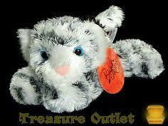 fiesta stuffed plush beanie grey gray wolf madison laying 12in