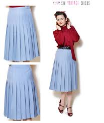 pleated skirt vintage high waisted women clothing midi pleated