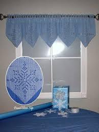 Crochet Valance Curtains 59 Best Crochet Valance Images On Pinterest Crochet Curtains