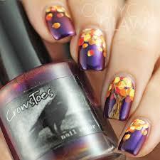 2 easy nail art for fall autumn nail art tutorial youtube nail