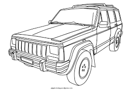 square shouldered cherokee for the jeep coloring book jeep