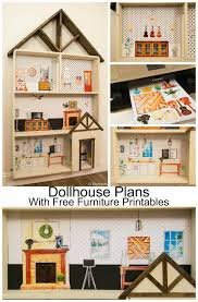 printable barbie house furniture remodelaholic diy dollhouse tutorial free printable dollhouse