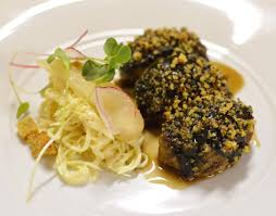 Delicious Main Course With Braised Pork Cheeks Pickled Fig 15 20 U2013 Lbv Le Bon Vivant