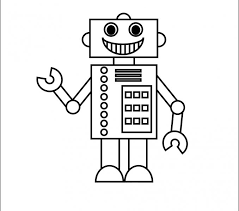 robot coloring coloring pages adresebitkisel