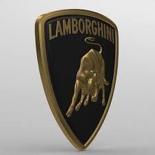 lamborghini logo 3d model lamborghini logo 2 cgtrader