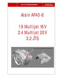 aisin af40 manual transmission automatic transmission