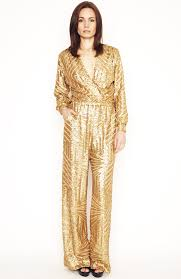 sleeve sequin jumpsuit gold sequin sleeve jumpsuit ripley rader