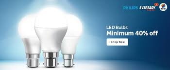 philips eveready wipro led bulbs on minimum 40 discount at