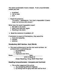reading wonders unit 4 3rd grade workshop worksheets by mandi brian