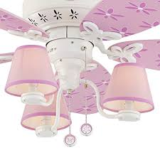 Pink Ceiling Fans by Hunter Dreamland 44 In White And Pink Kids Downrod Or Flush Mount
