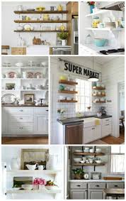 Kitchen Open Shelves Ideas by 62 Best Exposed In The Kitchen Images On Pinterest Kitchen