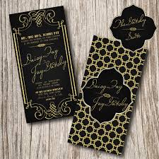 great gatsby prom tickets on behance gatsby invitations pinterest