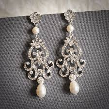 and pearl chandelier earrings fabiona style chandelier wedding earrings white