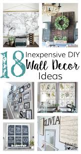 cheap home wall decor 18 inexpensive diy wall decor ideas bless er house