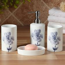 porcelain bathroom set high quality ceramic elegant tumbler soap