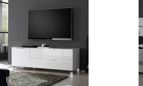 meuble blanc chambre meuble tv blanc laqué pour un salon design made in italie