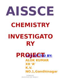 123447504 chemistry investigatory project formaldehyde aldehyde