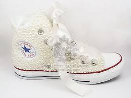 wedding shoes converse ivory wedding converse pearl bridal shoes custom converse