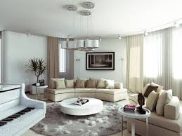 Livingroom Rug Modern Living Room With Round Coffee Table And Round Area Rug