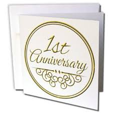 1st year wedding anniversary buy 3drose greeting cards 1st anniversary gift gold text for
