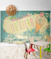 vintage weathered ice cream wall mural milton king always room for ice cream wall mural from muffin mani