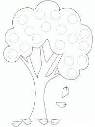 autumn tree tracing worksheet circles tracing worksheets
