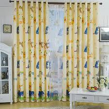 Childrens Room Curtains 52 Blackout Curtains Printed Air Balloon Pattern Beige Poly