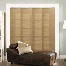 Panel Track Blinds For Sliding Glass Doors Chicology Adjustable Sliding Panel Cut To Length Curtain Drape