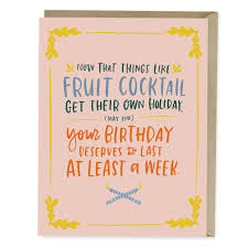 birthday cocktail fruit cocktail birthday card emily mcdowell studio