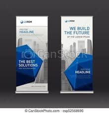 layout banner design roll up banner design layout corporate vertical banner eps