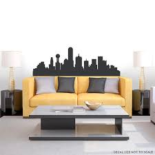 dallas texas skyline vinyl wall decal sticker