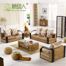 Rattan Living Room Furniture Light Weight Hotel Spa Indoor Rattan Wicker Living Room