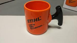 stihl starter pull handle coffee mug cup let u0027s get started 14oz ebay