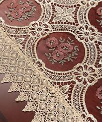 gold lace table runner simhomsen vintage gold burgundy lace table runner and dresser