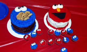 paisley in paris elmo and cookie monster birthday cakes