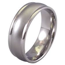 stainless steel wedding bands steel modern casual ring wedding band