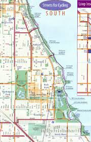 Chicago City Limits Map by Bike Plans Routes News Map