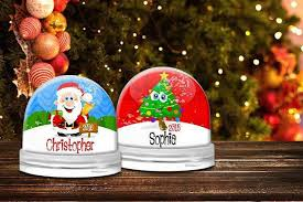 Personalised Snow Globes Tree Decorations Personalised Snow Globe
