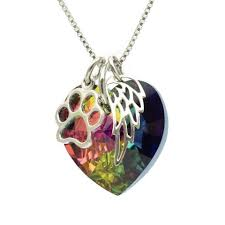 pet memorial necklace pet memorial necklace swarovski heart funeralwise store