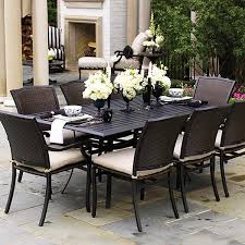 Glass Table Patio Set Appealing Outdoor Wicker Patio Dining Sets Creative